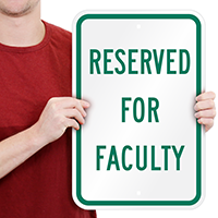 Reserved Faculty Signs