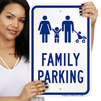 Family Parking Signs With Graphic