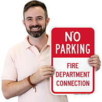 No Parking - Fire Department Connection, Parking Signs