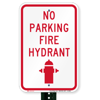 No Parking Fire Hydrant (graphic) No Parking Signs