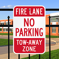 Fire Lane No Parking Tow Signs