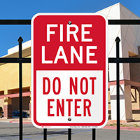 Fire Lane, Do Not Enter Parking Sign