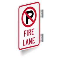 Fire Lane Signs (with No Parking Symbol)