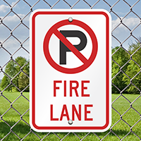 Fire Lane Signs (no parking symbol)