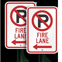 Fire Lane Parking Sign (left arrow symbol )