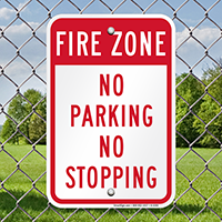 Fire Zone No Parking No Stopping Signs