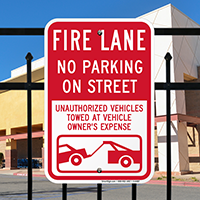 Fire Lane No Parking On Street Signs