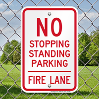 No Stopping, Standing, Parking - Fire Lane Signs