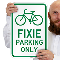 Humorous Bike Signs