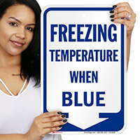 Ice Alert Freezing Temperature When Blue Signs