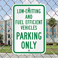 Low-Emitting And Fuel Efficient Vehicles Parking Signs