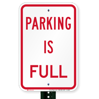 Parking Is Full Sign