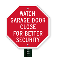 Watch Garage Door Close For Better Security Signs
