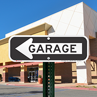 Garage Signs With Left Arrow