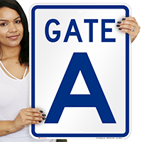 Gate A, Gate ID Sign