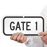 GATE 1 Signs