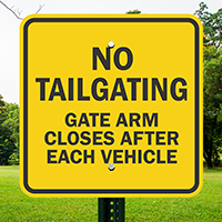 Gate Arm Closes After Each Vehicle Signs