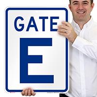 Gate E, Gate ID Sign