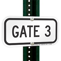 GATE 3 Signs