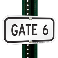 GATE 6 Signs