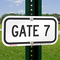 GATE 7 Sign