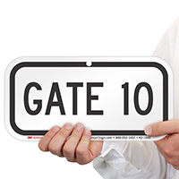 GATE 10 Sign
