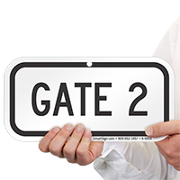 GATE 2 Signs