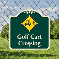 Golf Cart Crossing Signature Sign