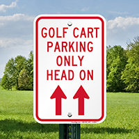 Golf Cart Parking Only Signs