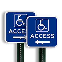 Access Left Arrow Directional Signs