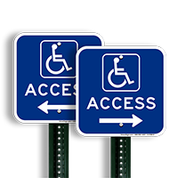Access Right Arrow Directional Signs