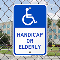 Handicap Or Elderly Signs