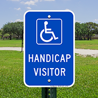 Handicap Visitor Signs (With Graphic)