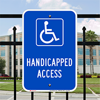 Handicapped Access Parking Lot Signs