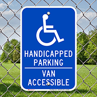 Handicapped Parking Van Accessible Signs (with Graphic)