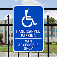 Handicapped Parking, Van Accessible Only Handicap Parking Signs