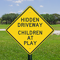 Hidden Driveway Children At Play Signs