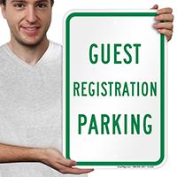 Guest Registration Parking Sign