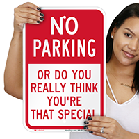 Humorous No Parking Signs