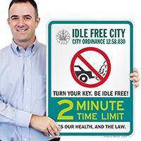 State Idle Signs for Salt Lake City, Utah
