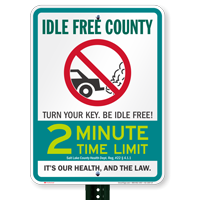 State Idle Signs for Salt Lake County, Utah