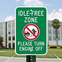 Idle-Free Zone, Turn Engine Off Signs