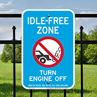 State Idle Signs for Massachusetts
