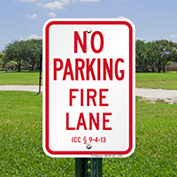 Iowa Fire Lane No Parking Signs