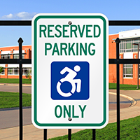 Reserved Parking Signs With ADA Approved ISA Symbol