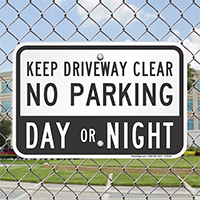 Keep Driveway Clear No Parking Signs