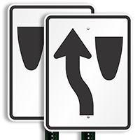 Keep Left (graphic only) Aluminum Traffic Signs
