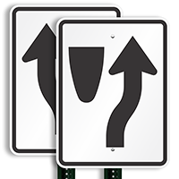 Keep Right Directional Road Signs