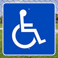 Large Handicapped symbol Signs