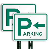 Parking Signs (arrow pointing left)